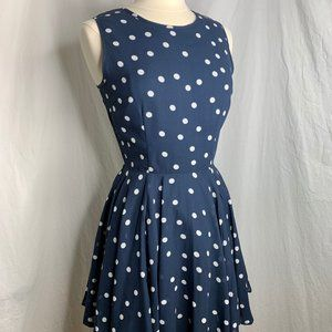Maison Jules polka dot fit and flare dress
